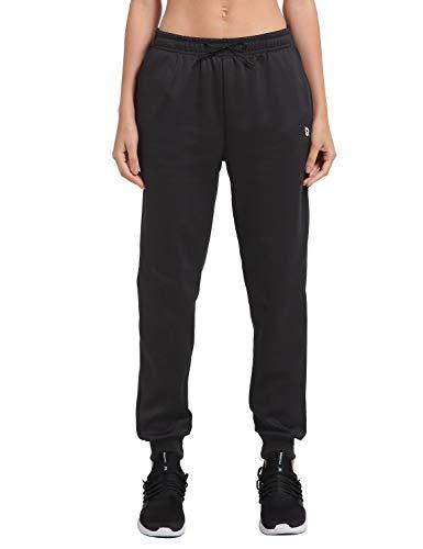 BALEAF Pantalones de Correr de Forro Polar con Bolsillos para Mujer - Negro - Large