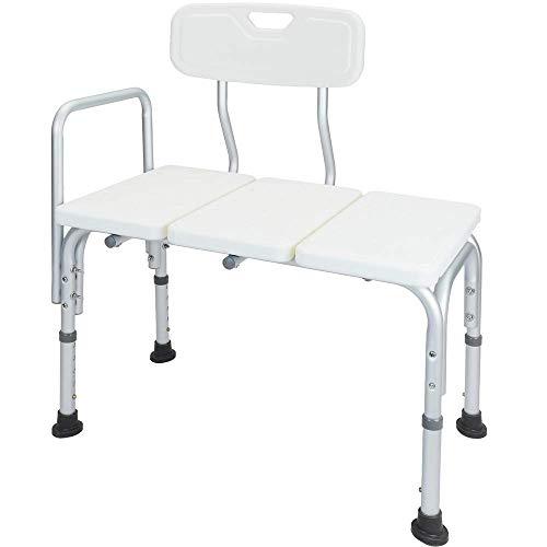 PrimeMatik - Badewanne Sitz höhenverstellbar mit Armlehne für Senioren