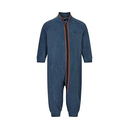Color Kids Baby Fleece Suit Traje de Forro Polar para bebé, Azul Oscuro, 74 Unisex niños
