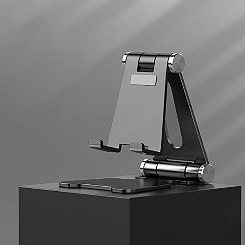 Soporte for teléfono móvil, teléfono móvil Soporte de escritorio, Universal Soporte perezoso for teléfonos móviles y tabletas, metal de aleación de aluminio asiento portable del soporte, 270 ° ajustab