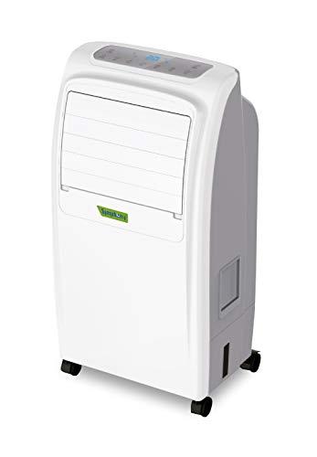 Symphony Noble Koeler, verwarming, luchtreiniger en luchtbevochtiger, 2000 W, 6,5 l, 50 decibel, kunststof, 3 snelheden, wit en grijs