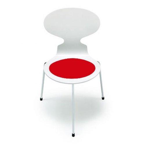 Hey Sign Sitzauflage Arne Jacobsen Ameise in rot