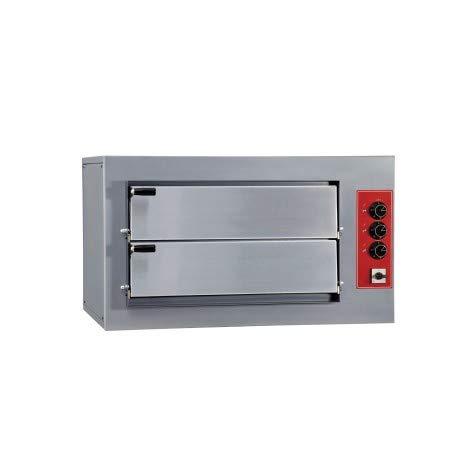 Horno de pizza doble eléctrico profesional – 4 pizzas 7,5 kW – Pizzagroup –
