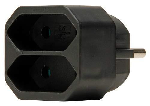 Kopp 174105004 Euro Adapter 2-Fach schwarz