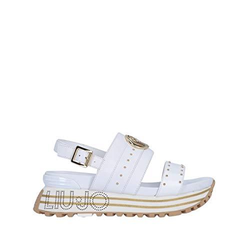 Liu Jo BA1075P0102 Sandalo Zeppa Bianco 41
