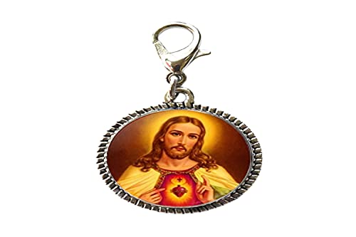 Christian Jewelry Jesús Believer - Pulsera con colgante de cristal con cierre de langosta