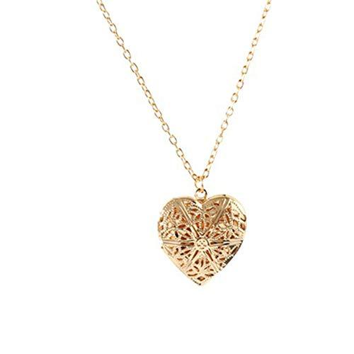 Bontand Collar del Encanto Collares Huecos geométrica del Amor del corazón Collares Pendientes de la joyería para Chicas señora Women
