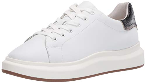 Sam Edelman womens Moxie Sneaker, Bright White/Black, 8.5 US