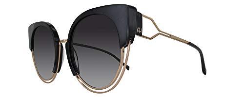 Ana Hickmann AH3180 A01, Gafa de Sol Forma Ojo De Mariposa Para Mujer, Color Negro, Con Protección UV400