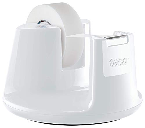 tesa - Portarrollos EasyComp, color blanco, 33m x 19mm (53838-00000-02)