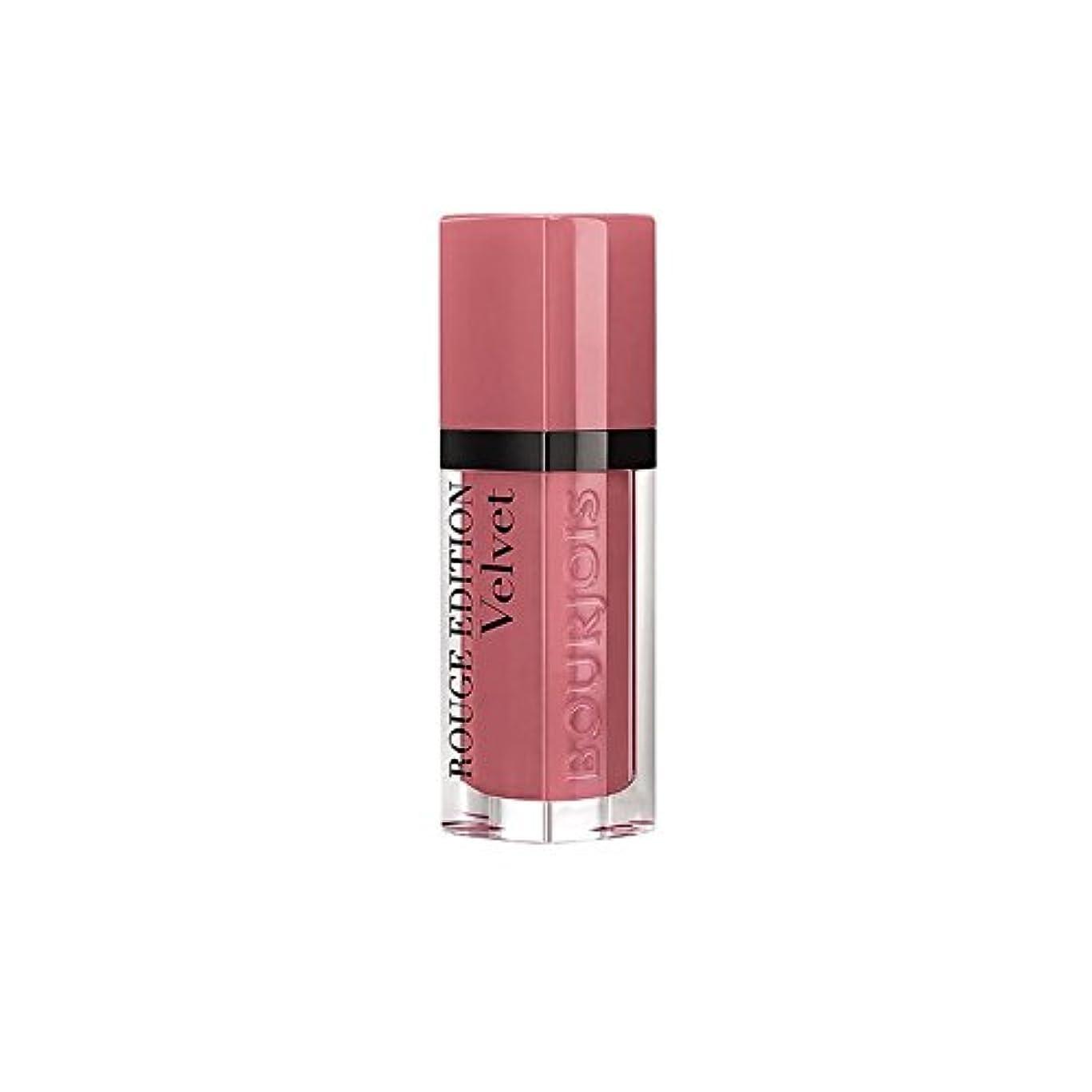 より多い喉頭数字ブルジョワルージュ版のベルベットの口紅幸せなヌード年09 x4 - Bourjois Rouge Edition Velvet lipstick Happy Nude Year 09 (Pack of 4) [並行輸入品]