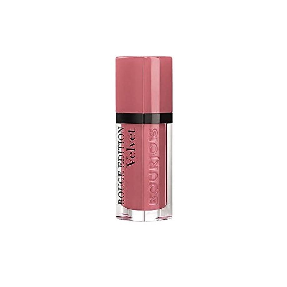 爵鋼干渉するブルジョワルージュ版のベルベットの口紅幸せなヌード年09 x2 - Bourjois Rouge Edition Velvet lipstick Happy Nude Year 09 (Pack of 2) [並行輸入品]