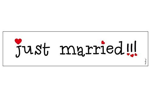 Autokennzeichen Just Married zur Hochzeit aus Stabiler Pappe - Hochzeitskennzeichen
