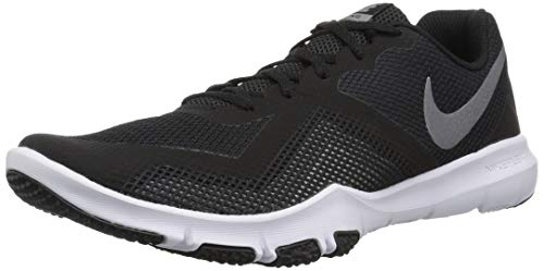 Nike Men's Flex Control II Cross Trainer, Black/Metallic Cool Grey - Cool Grey - White, 14.0 Regular US