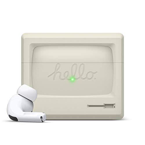 elago AW3 Funda AirPods Pro Diseñado para Apple AirPods Pro, Funda Diseño Apple Pantalla Clásica [Pendiente US Patente]