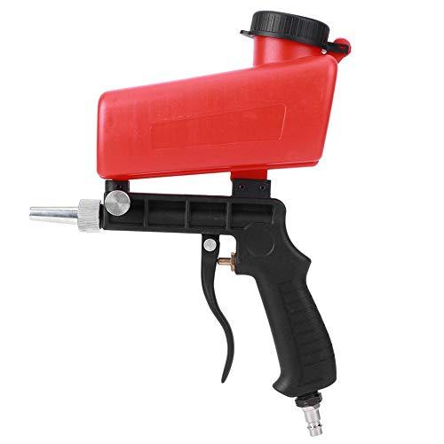 Máquina de chorro de arena neumática de 255mm/10,04 pulgadas, pistola de pulverización neumática de gravedad portátil de mano, herramienta de aire manual industrial