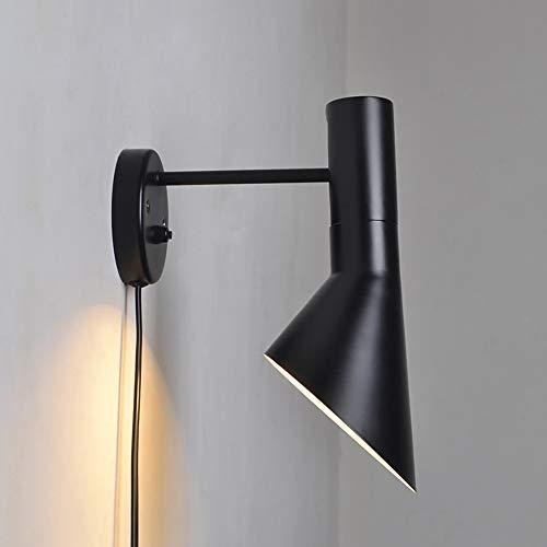 Moderne Wandleuchte Beleuchtung Wandmontage Nachttischlampe Leselampe Arne Jacobsen Wandleuchten Kreative AJ Wandleuchte Hauptbeleuchtung,Black