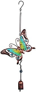 Sunset Vista Designs Metal and Glass Butterfly Bouncy Hanging Decoration