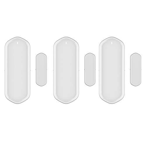 Cuasting Sensor de alarma magnética inteligente para puerta Tuya puerta abierta y cerrada detectores de control remoto compatible con Alexa Home 3 Set