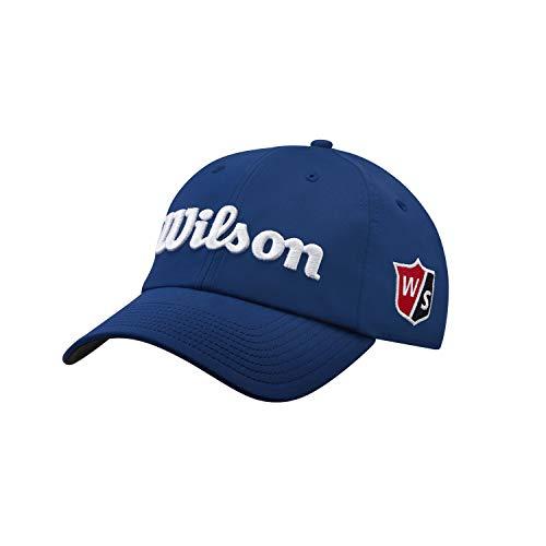 Wilson Hombre Gorra de golf, PRO TOUR, Poliéster, Azul/Blanco, Talla única, WGH7000053