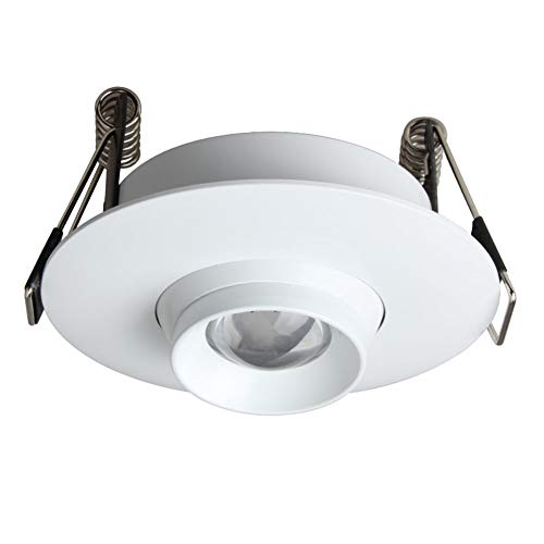 YBright Kleine Strahler 3W COB LED-Beleuchtung Tilt vertiefte Deckenleuchte Zoom-Scheinwerfer, 10 ° -60 ° Einstellbare Abstrahlwinkel, 330LM, 3000K, 4000K, 6000K, Accent Lampe for Shop-Vitrine