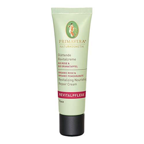 PRIMAVERA Revitalpflege Glättende Revitalcreme Rose Granatapfel 30 ml - Naturkosmetik - fältchenmildernd für reife Haut - vegan