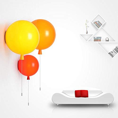 Kleurrijke ballon wandlamp moderne acryl slaapkamerlamp kinderkamerlamp balkon gang nachtwandlamp white_diameter_25cm_white_diameter_25cm