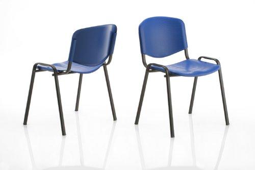 KARISMA - ISO Point A, Sedia in Plastica Casa/Ufficio/Attesa/Scuola/Bar, Blu