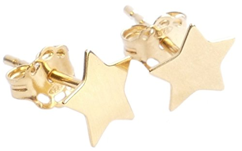 Ah! Jewellery Genuine Vermeil Celebrity Style Gorgeous 6mm Star Stud Earrings. 24K Yellow Gold Over Sterling Silver. Lovely Little Must Have! Stamped 925. 10 Year Guarantee.