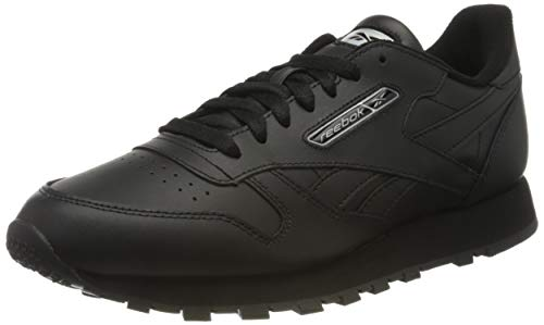Reebok Herren Cl Leather Mu Gymnastics Shoe, Black/Black/Silver Met., 43 EU