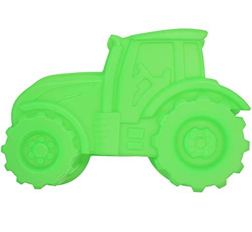 Backform Traktor, Grün Kuchenform zum Backen für Kindergeburtstag Silikonform Bulldog Motivform Silikontraktor für Kuchen, EIS, Schokolade, Brot, Dessert Pudding