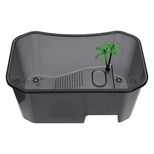 Toyvian Tanque de Tortuga Portátil de Plástico Contenedor de Habitat de Reptil...