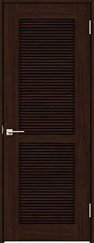 ラシッサS 標準ドア ASTH-LTA 錠付き 0820 W:824mm × H:2,023mm 吊元:右吊元 本体色/枠色:クリエダーク(DD) 枠種類:ノンケーシング115(壁厚:76-100) 沓摺:なし 把手:サークルB 鍵種類:丸型表示錠 LIX