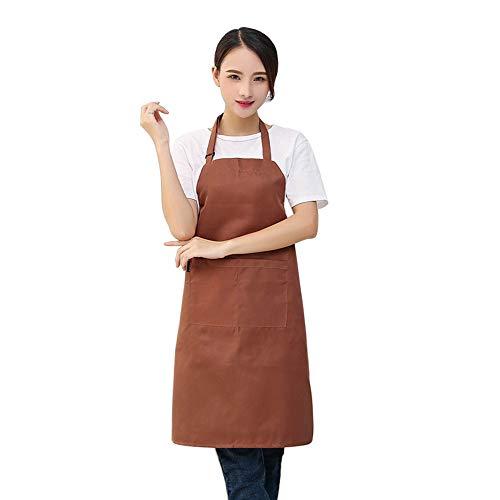 Moent - Delantal de cocina para mujer, ajustable, color coreano, caqui, As show