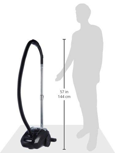 AmazonBasics Vacuum Cleaner with Power Suction, Low Sound, High Energy Efficiency and 2 Years Warranty (3L Reusable Dust Bag, Black)