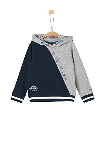 s.Oliver Jungen 63.908.41.2546 Sweatshirt, Grau (Grey Melange 9400), (Herstellergröße:104/110/REG)