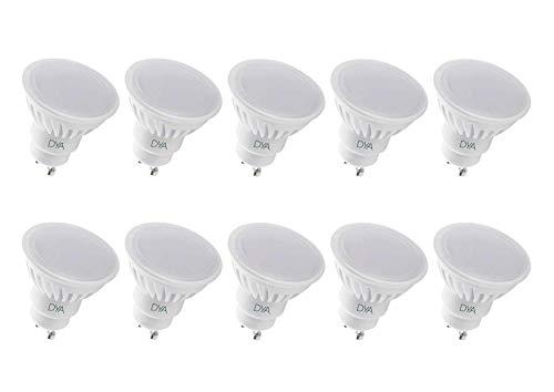 SET di 10 LAMPADINE LED SPOTLIGHT GU10 DYA ø50x57, 9W 900 Lumen (LUCE CALDA 3000K)