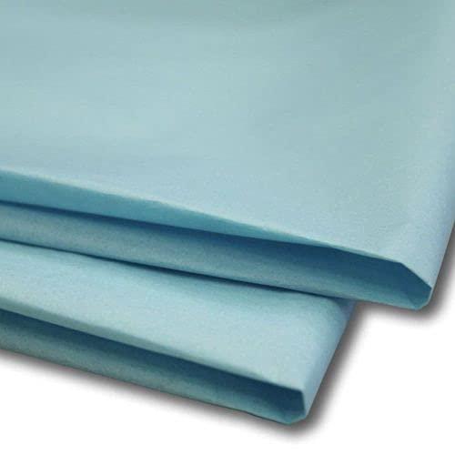 Papel de seda sin ácidos, 500 x 750 mm, 18 g/m², 200 hojas, color azul