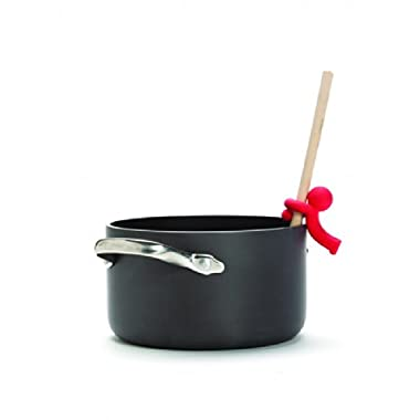 Monkey Business Spoon Saver - Hug Doug Silicone Spoon Saver and Rest, Adjustable to Most Kitchen Cooking Utensils, Red, by