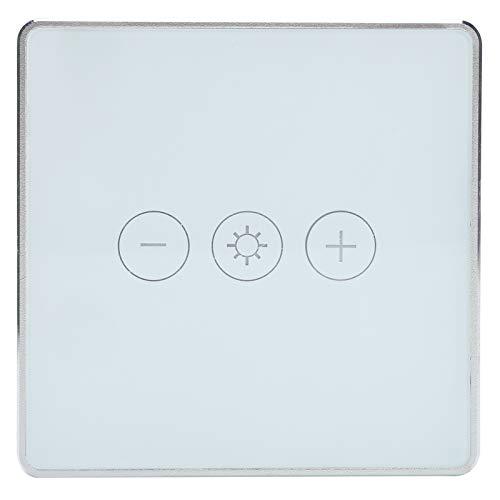 Interruptor Inteligente ABS Blanco 400W Control Remoto Interruptor Inteligente Panel Táctil Wi-Fi de 3 Bandas para Alexa/Echo Dot Estándar del Reino Unido 95-240V AC