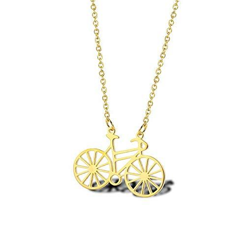 VAWAA Edelstahl Gold Fahrrad Halskette Fahrrad Anhänger Halskette Frauen zierliche Fahrrad Halsketten Schmuck für Frauen