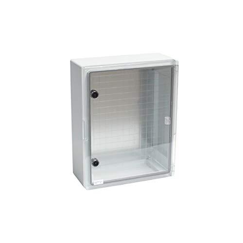 Kunststoff Schaltschrank 300 x 400 x 195 mm mit Sichttür IP65 Verteilerkasten