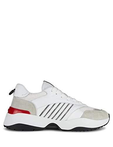 DSQUARED2 Luxury Fashion Herren SNM0096015012761062 Weiss Leder Sneakers   Frühling Sommer 20
