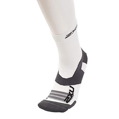 2XU Unisex's Vectr Ultralight Cushion Crew Socks, White/Grey, X-Large