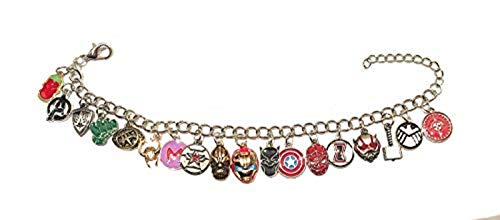giulyscreations Bracciale Metallo Nichel Free Avengers Infinity War Thanos Thor Iron Man Captain America Flash Loki Hulk Deadpool Occhio Agamotto Doctor Strange Groot Spiderman Fantasy Cosplay