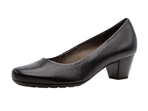Gabor Damen Pumps 32.120, Frauen Pumps Court-Shoes Absatzschuhe, Abendschuhe,Stöckelschuhe, 37 EU, Schwarz Glattleder