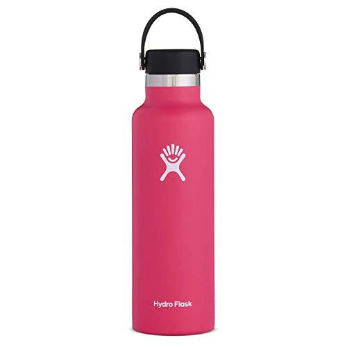 Hydro Flask Trinkflasche 621ml (21oz), Edelstahl und vakuumisoliert, Standard-Öffnung mit auslaufsicherer Flex Cap, Watermelon