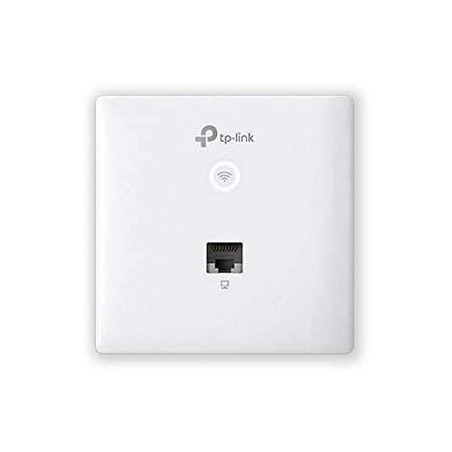 TP-Link Omada AC1200 Wireless MU-MIMO+Dual-Band Gigabit Wall-Plate Access Point,802.3af 802.3at, Easily Wall Mount, Free EAP Controller Software (EAP230-Wall)