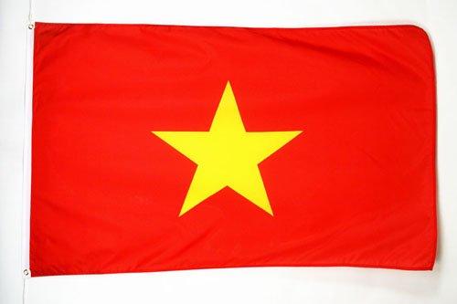 AZ FLAG Flagge Vietnam 150x90cm - VIETNAMESISCHE Fahne 90 x 150 cm - flaggen Top Qualität