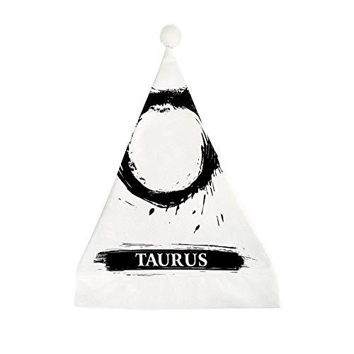 Mesllings 12 Sternbilder Taurus bedruckt Weihnachten Lustig Party Hut Urlaub Hüte Weihnachtsmütze Geschenke für Erwachsene – 50 x 35 cm